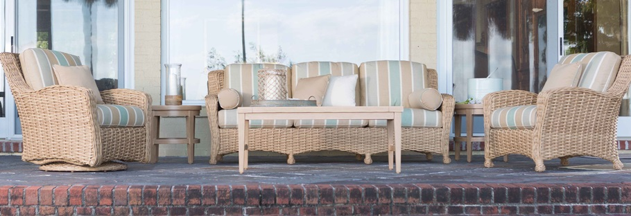 Ebel Dreux Wicker Seating Collection