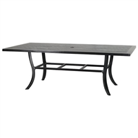 "Gensun Channel 44"" x 86"" Rectangular Dining Table"