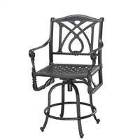 Gensun Grand Terrace Swivel Bar Stool