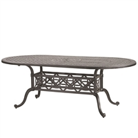 "Gensun Grand Terrace  42"" x 86"" Oval Dining Table"