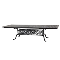 "Gensun Grand Terrace  44"" x 74""/114"" Rect Ext Table"