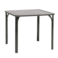 "Brown Jordan Quantum 42"" Square Perforated Top Table"