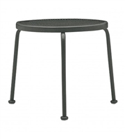 "Woodard 17"" Round End Table - Stackable"