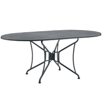 "Woodard 42"" x 54"" Oval Umbrella Table"
