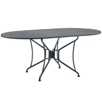"Woodard 42"" x 72"" Oval Umbrella Table"