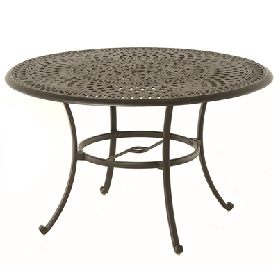 Hanamint Bella 60 Quot Round Inlaid Lazy Susan Table
