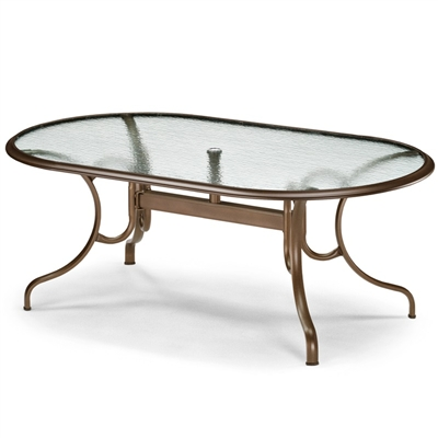 "Telescope 43"" x 75"" Oval Dining Table Ogee Rim"