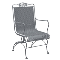 Woodard Briarwood High Back Coil Spring Chair
