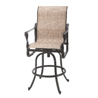 Gensun Grand Terrace Sling Swivel Balcony Stool