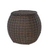 "Ebel Dreux End Table with 17"" woven top"