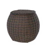 "Ebel Dreux End Table, with 17"" woven top"