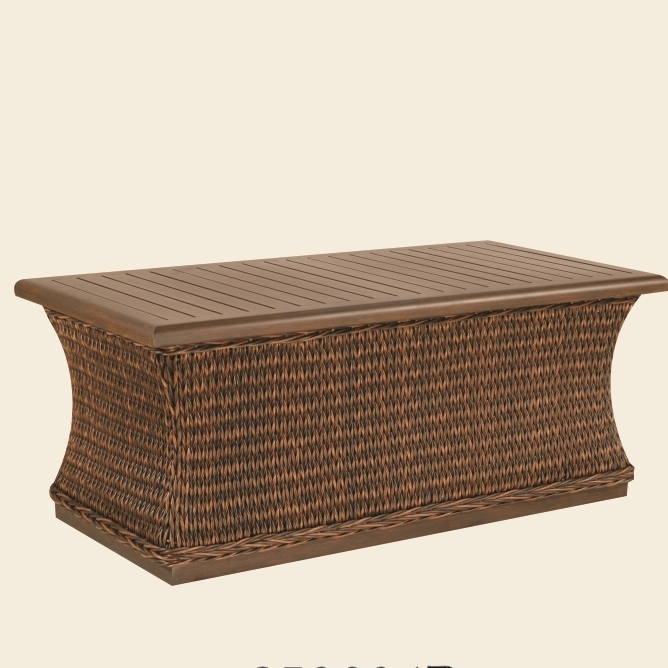 Industrial Renaissance Outdoor Coffee Table: Patio Renaissance Monticello Woven Coffee Table