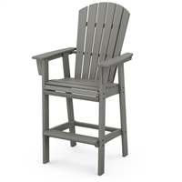 Polywood Nautical Adirondack Bar Chair