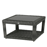 Ratana Portofino Coffee Table w/Clear Glass