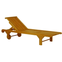 Kingsley Bate Nantucket Adj. Chaise Lounge w/Wheels