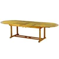 "Kingsley Bate Essex 114"" x 45"" Oval Extension Dining Table w/Fold-Away Leaves"