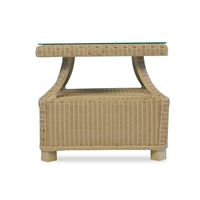 Lloyd Flanders Hamptons End Table w/ lay on glass