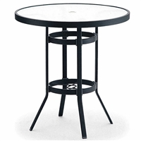 "Winston Obscure Glass 36"" Round Bar Table"