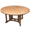 "Royal Teak 60"" Rd Drop Leaf Table"