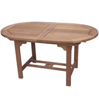 "Royal Teak 60/78"" Oval Extension Table"