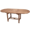 "Royal Teak 72/96"" Oval Extension Table"