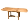 "Royal Teak 72/96"" Rect Extension Table"