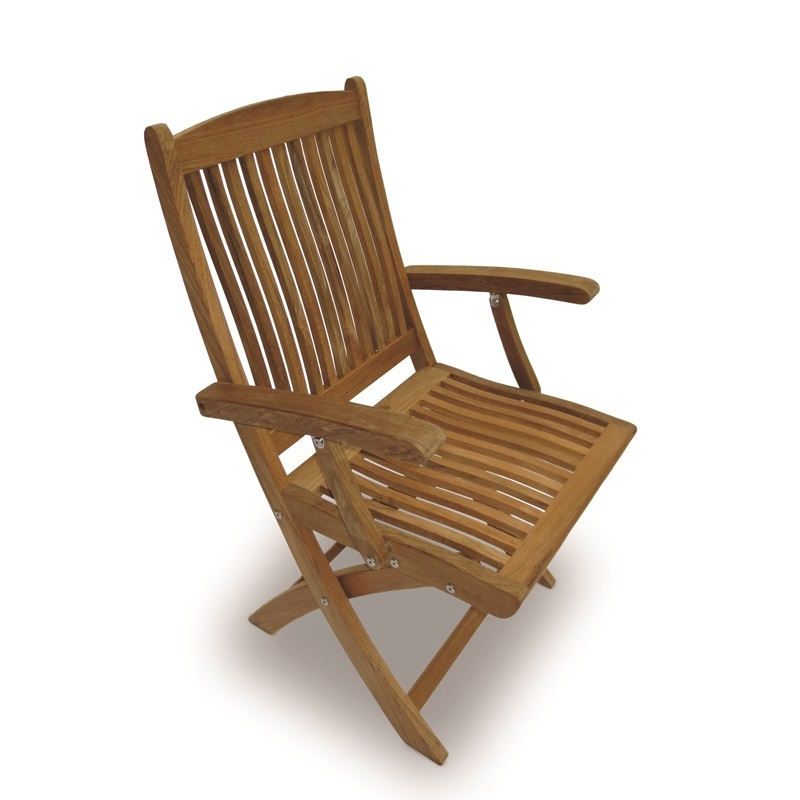 Royal Teak Sailor Folding Arm Chair
