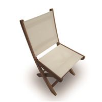 Royal Teak Sailmate Sling Folding Side Chair