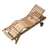 Royal Teak Knee-up Chaise
