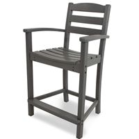 Polywood La Casa Cafe Counter Arm Chair