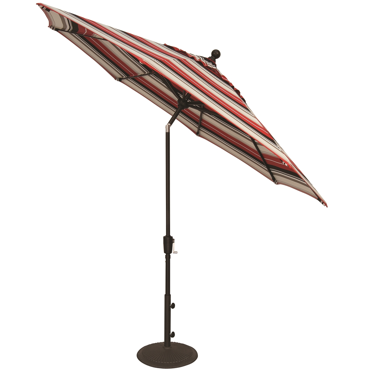 treasure garden aluminum 9 39 button tilt market umbrella