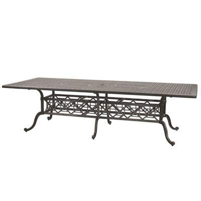 "Gensun Grand Terrace  48 x 112"" Rectangular Dining Table"