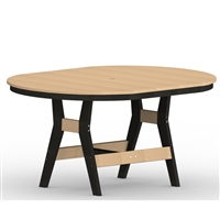 "Berlin Gardens 44"" x 64"" Oval Harbor Dining Table"