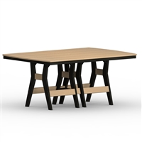 "Berlin Gardens 44"" x 72"" Rect Harbor Dining Table"
