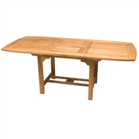 "Royal Teak 60/78"" Rect Extension Table"