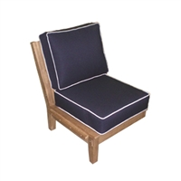 Royal Teak Miami Sectional Armless Chair
