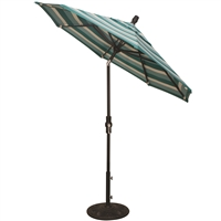 7.5' Push Button Tilt Market Umbrella